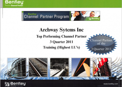 Q3 2011 - Top Performing Channel Partner in Training