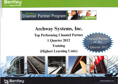 Q1 2012 - Top Performing channel Partner in Training