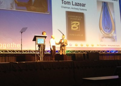 2012 - Bentley Institute Lifetime Achievement Award to Tom Lazear of Archway Systems, Inc.